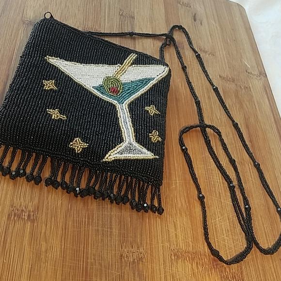 Handbags - Martini Beaded Evening Bag